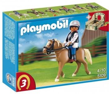 PLAYMOBIL JINETE C/ CABALLO 5109