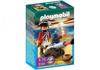 PLAYMOBIL SOLDADO CON CAÑON 5141