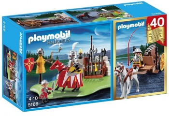 PLAYMOBIL SET TORNEO MEDIEVAL/CARRETA CAÑON 5168
