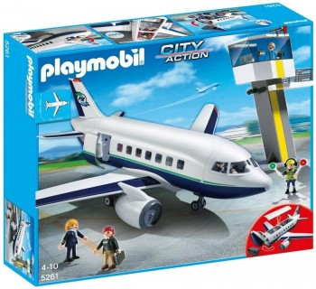 PLAYMOBIL AVION DE PASAJEROS Y MERCANCIAS 5261