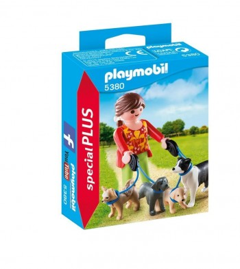 PLAYMOBIL PLUS CUIDADORA PERROS 5380