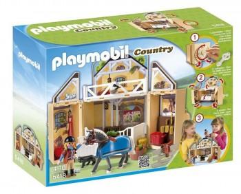 PLAYMOBIL COFRE ESTABLO DE CABALLOS 5418