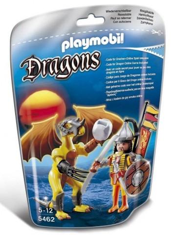 PLAYMOBIL DRAGON ROCA CON GUERRERO 5462