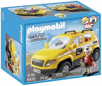 PLATMOBIL COCHE AMARILLO CITY ACTION 5470
