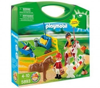 PLAYMOBIL MALETIN GRANJA DE PONYS 5893