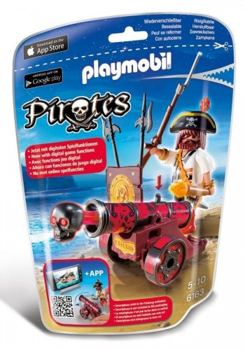 PLAYMOBIL PIRATA CAÑON ROJO 6163