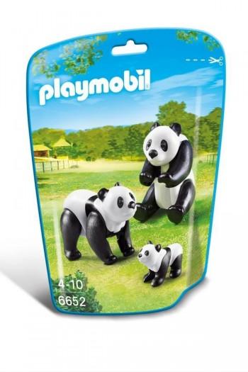 PLAYMOBIL FAMILIA DE PANDAS 6652