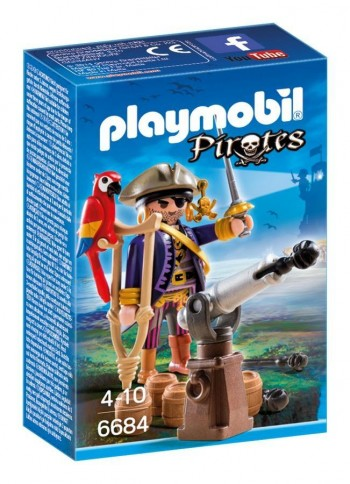 PLAYMOBIL CAPITAN PIRATA 6684