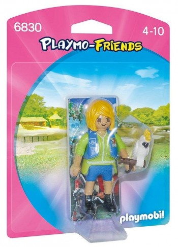 PLAYMOBIL FRIENDS CUIDADOR C/CACATUA 6830