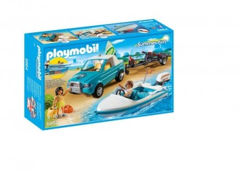 PLAYMOBIL PICK UP CON LANCHA 6864