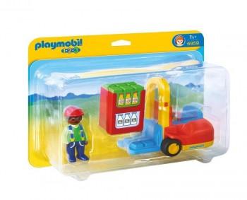 PLAYMOBIL 1-2-3 CARRETILLA ELEVADORA 6959