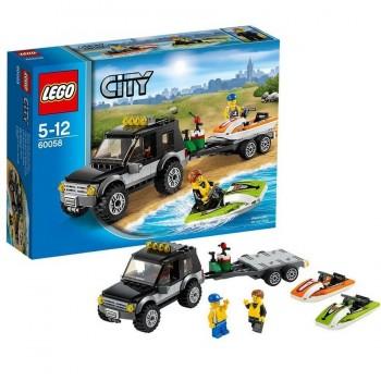 LEGO CITY FURGONETA CON LANCHA 60058