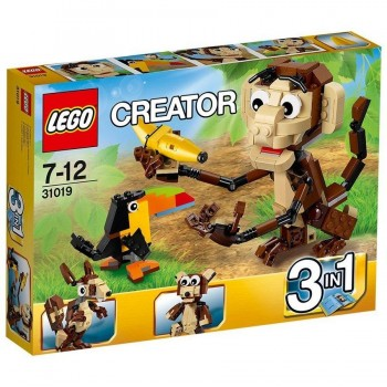 LEGO CREATOR ANIMALES DE LA JUNGLA 31019