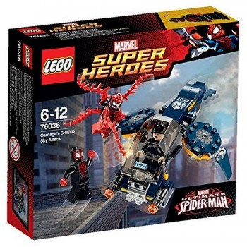 LEGO SUPER HEROES EL ATAQUE AEREO SPIDERMAN 76036