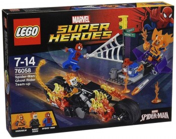 LEGO SUPER HEROES SPIDERMAN VS MOTORISTA FANTASMA 76058