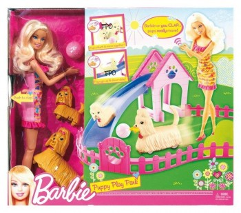 BARBIE Y SU PARQUE DE PERRITOS