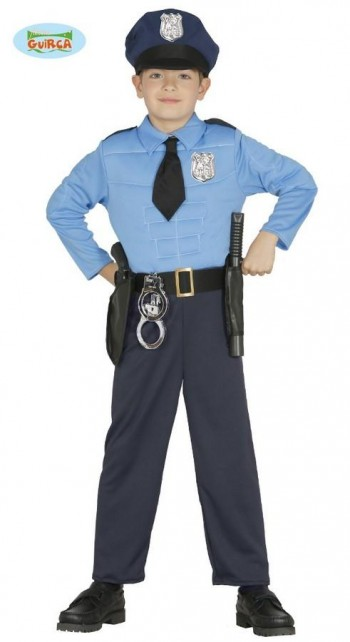 DISFRAZ POLICIA MUSCULOSO GUIRCA 85894